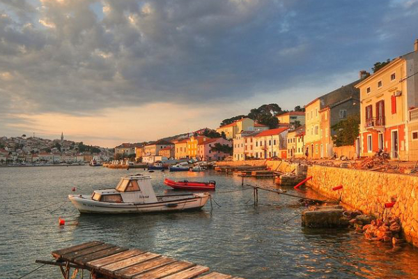 Early Morning View Of Mali Losinj Bridge That Showing The Beauty Of Croatia.