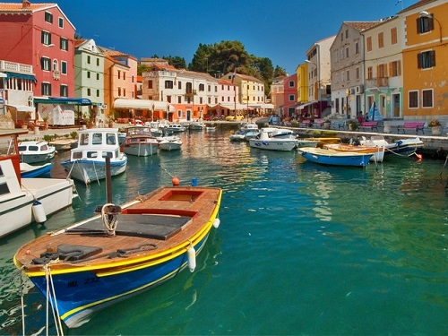 Small Harbor On Veli Losinj Protects The Boats From High Waves That Showing The Prosperity Of Losinj.