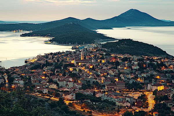 Beautiful View Over The Town With A Traditional Architecture Of Mali Losinj On A Pleasent Morning In Croatia.